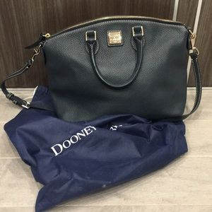 Dooney and Burke Blue Bag with zipper